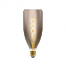 bt78 4w smoked twisted led bulb, smoked gray