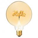 light bulb hello champagne