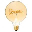 light bulb deco dream, champagne