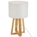 H35 white wood foot lamp, white