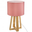 lamp foot wood rose h35, light pink