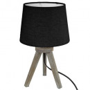 trep mini wood lamp black h31, black