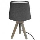 wood trep mini gray h31 lamp, dark gray