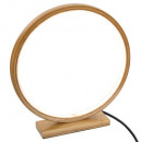 round bamboo led lamp d32, beige