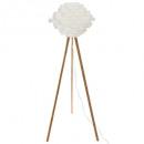 Lampdr Bambus Trep h153, weiß