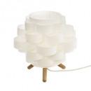 bambo paper trep h22 lamp, white