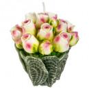 bougie bouquet de roses 245g, 2-fois assorti, coul