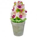 bougie pot orchidee 170g, 2-fois assorti, couleurs