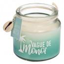 bougie parfumées verre coquillage 80g, 4-fois asso