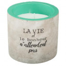 wholesale Candles & Candleholder: scented candle cement dream 70g, 3- times assorted