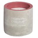 candela profumata di cemento 70g, 3- volte assorti