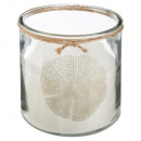 candle scented glass summer 1200g, 3- times assort