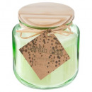 scented candle glass + wooden lid 240g, 2-times as