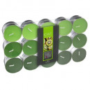 scented tea light kiwi nina x30, green