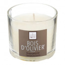 scented candle wood oliv elea 100g, white