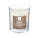 scented candle wood oliv elea 190g, white