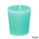 Vela votiva perfumada coco elea x4, azul claro.