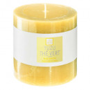 scented candle yuzu elea 10x10, yellow