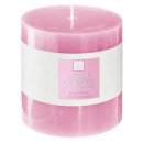 pink scented candle elea 10x10, light pink
