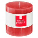 scented candle pom d'elea 10x10, red