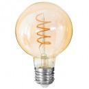 wholesale Illuminants: amber twisted led bulb g95 2w, amber