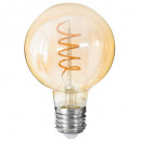 led lamp ambr g95 4w, transparant