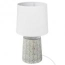 keramische lamp h35,5, grijs