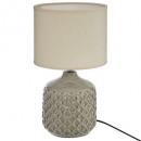 Lámpara de cerámica ilou h36.5, color topo