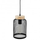 wholesale Lampes: metal / wood suspension nr zely h24,5, black