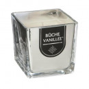 scented candle glass h8, silver
