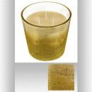 Vela perfumada 3 mechas oro, oro.