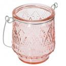 theelichtglas gekleurde ola, roze