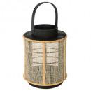 linterna de bambú h22 cera, incolora
