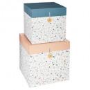 Caja cuadrada minero x2, 2 veces surtido , multico