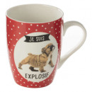 mug m chien chat 33cl, 4-fois assorti, multicolore