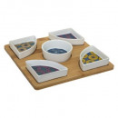 set aperitif 6pcs wax, multicolore