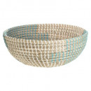 basket basketwork 30cm blue, 3- times assorted , c