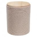ceramic jar + CV wood, 4- times assorted , color