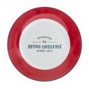 Rood retro-dessert van Borden cm, rood