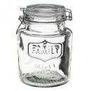 bocal verre 18cm retro, transparent