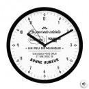 Großhandel Uhren & Wecker: Pendel Plast Zitat Display , 6- fach sortiert co