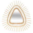 triangle rattan mirror 57x54, medium beige
