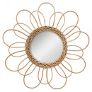 rattan mirror flower d38, medium beige