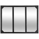 specchio metallico lola nero 54x74, nero