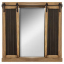 wholesale Mirrors: Slate shutter mirror 76x76, brown