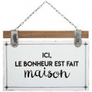 plaque citation bois / metal 35x25, 2-fois assorti