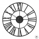 Vintage black metal clock d36,5, black