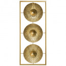Deco pared metal oro 25x61, oro.