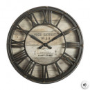 Vintage d21 plast clock, brown