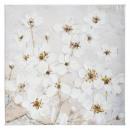 58 * 58 flores de lona pei, blanco.